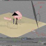 Blenderでの制作画面